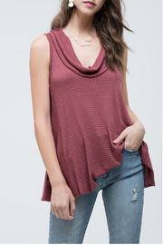 Blu Pepper Cowl Neck Sleeveless Knit Top - Product Mini Image