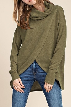 Mittoshop COWL NECK SURPLICED FRONT TOP - Product List Image