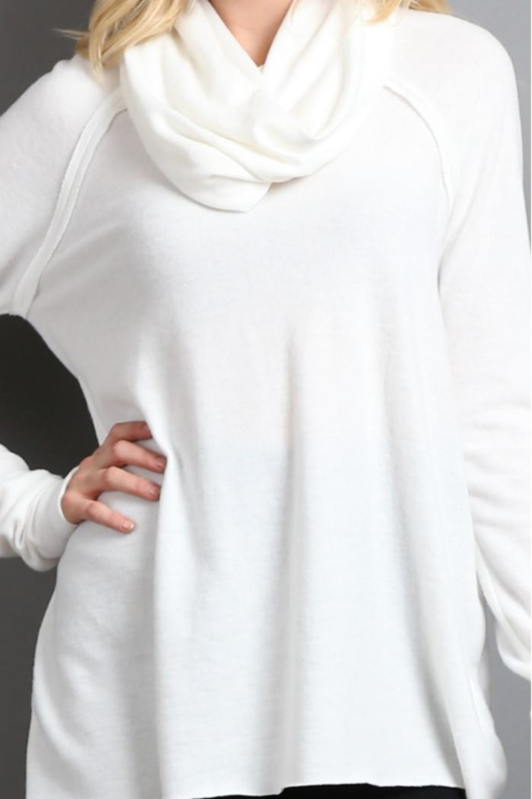 My Beloved Cowl Neck Sweater - Side Cropped Image
