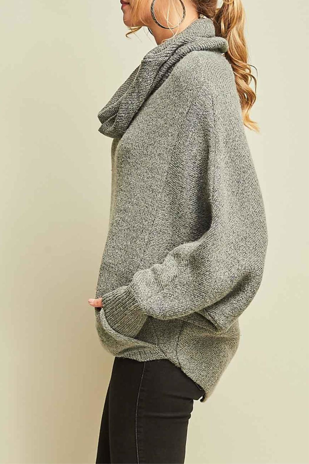 Entro Cowl Neck Sweater - Side Cropped Image