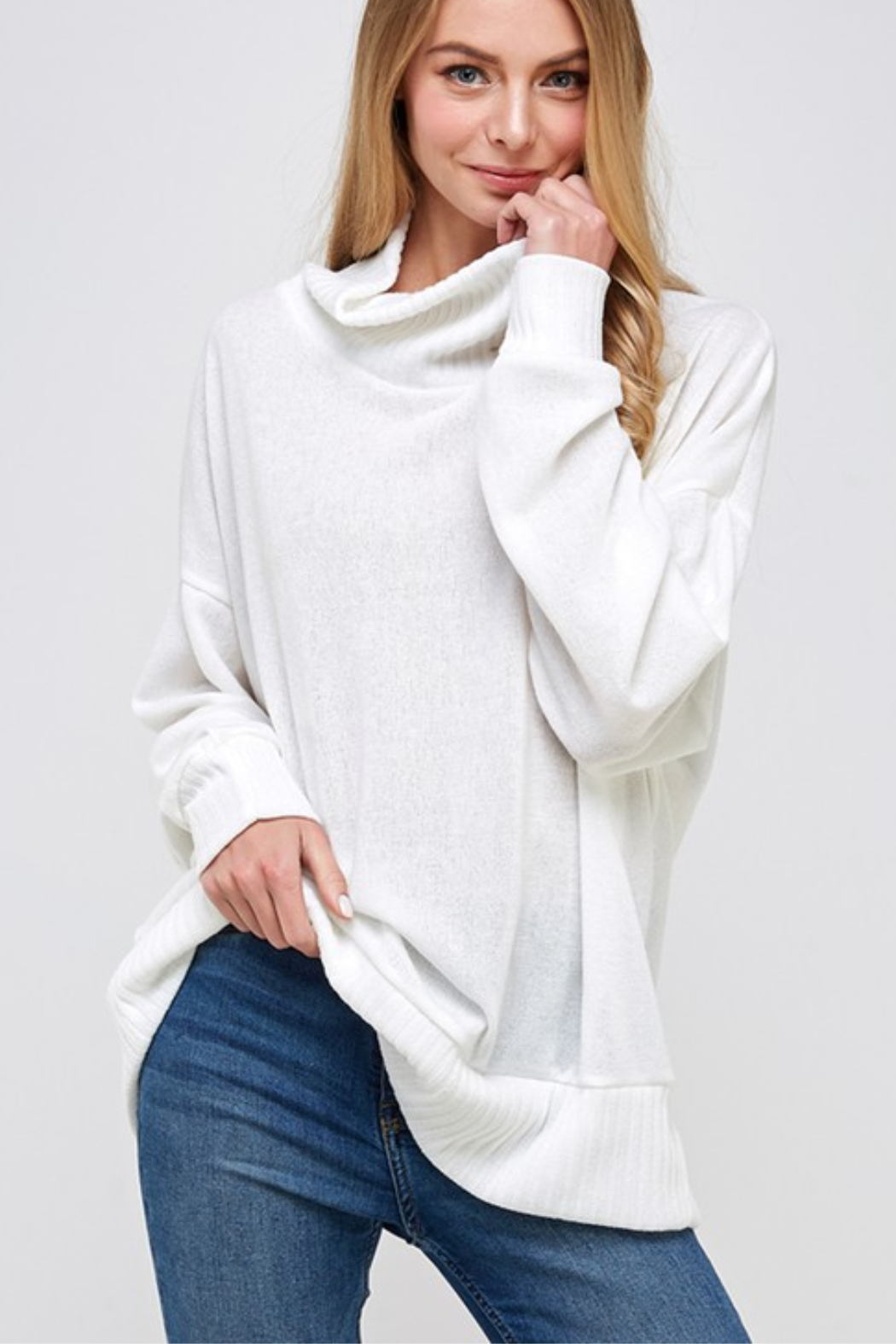 Caramela Cowl Neck Sweater - Front Cropped Image