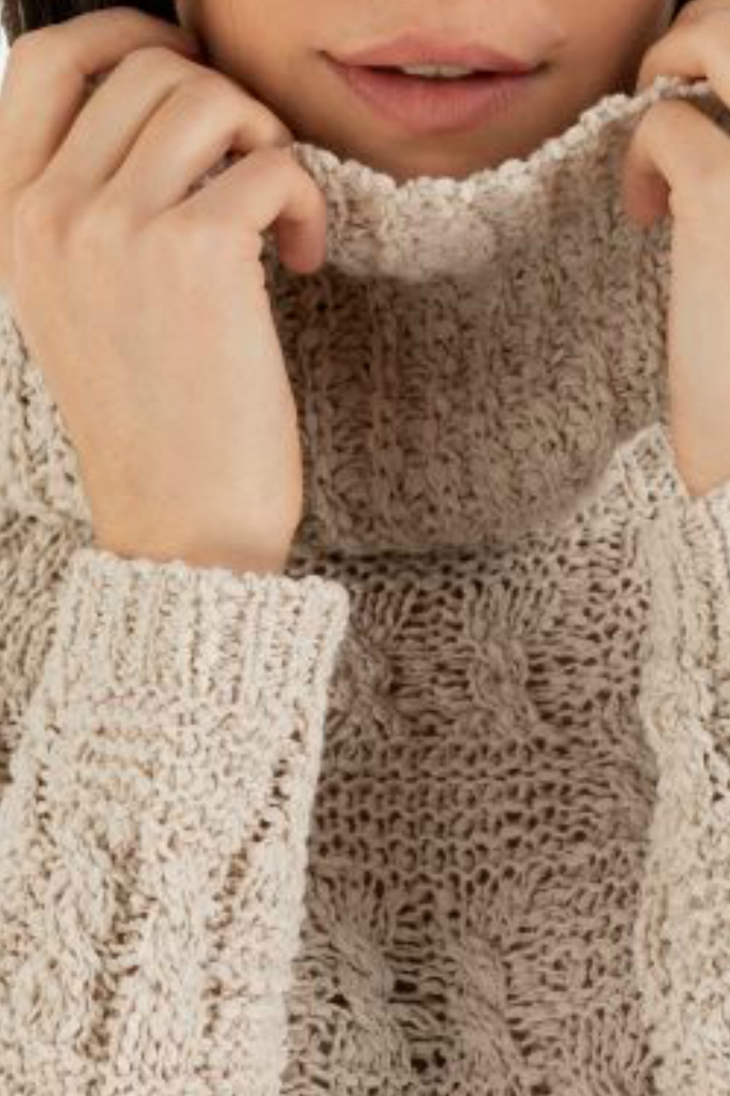 Tribal Cowl Neck Sweater - Side Cropped Image