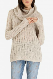 Tribal Cowl Neck Sweater - Front cropped