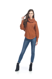 Papillon  Ribbed Cowl Sweater - Front cropped