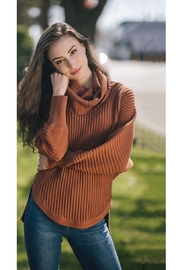 Papillon  Ribbed Cowl Sweater - Front full body