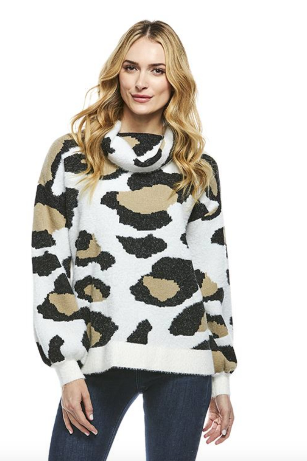 Fabulous Furs Cowl Neck Sweater - Side Cropped Image