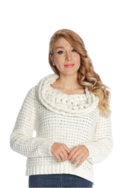 Michael Tyler Collections Cowl Neck Sweater - Product Mini Image