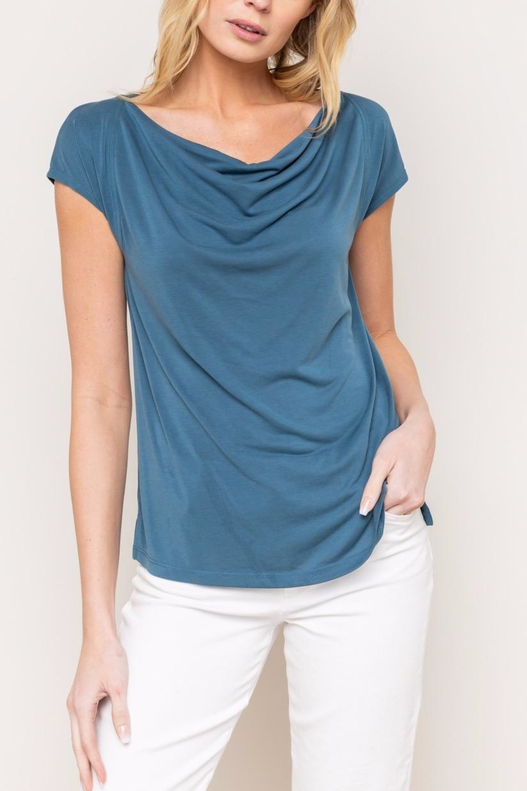 Mystree Cowl Neck Tee - Main Image