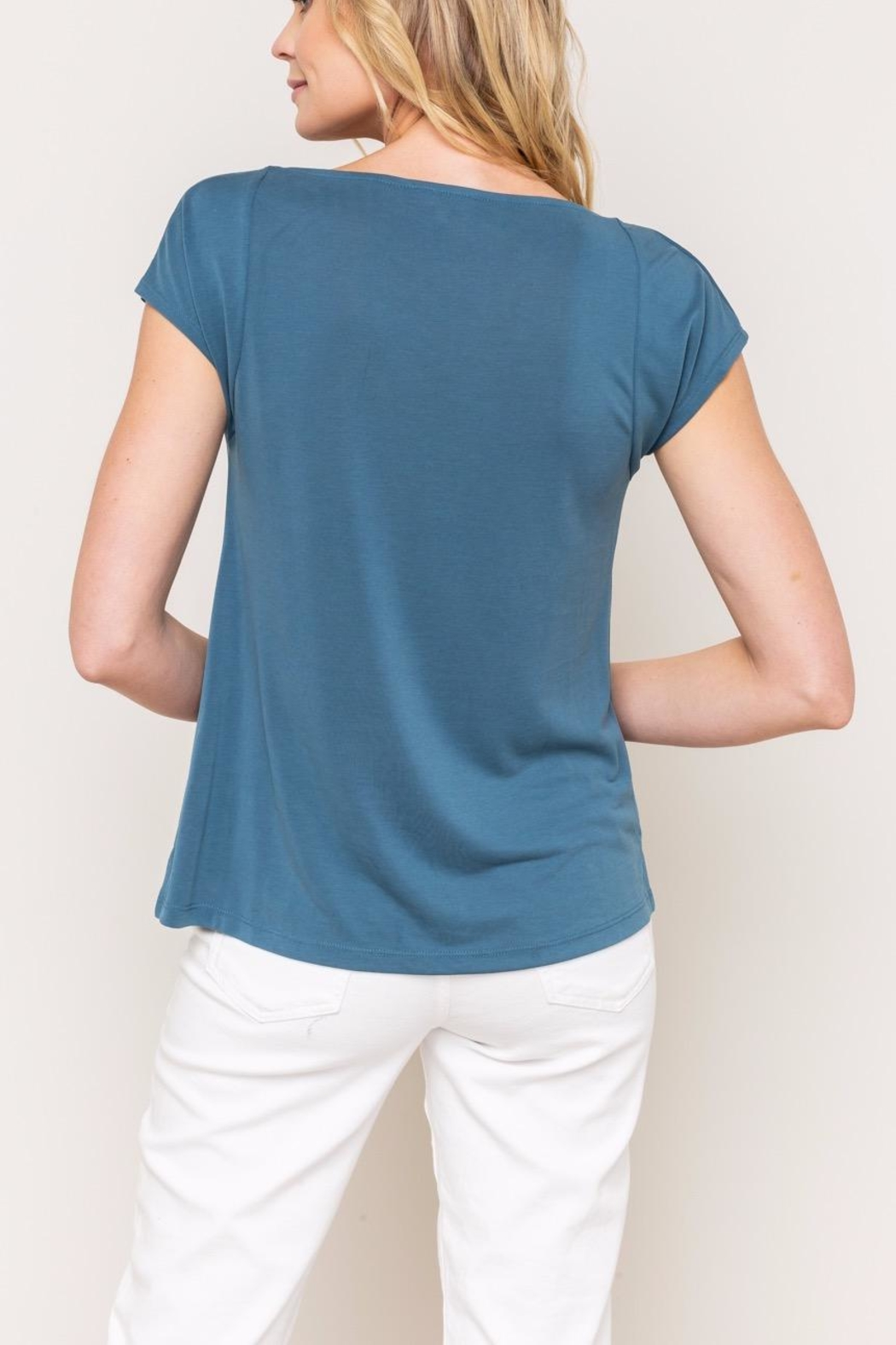 Mystree Cowl Neck Tee - Front Full Image