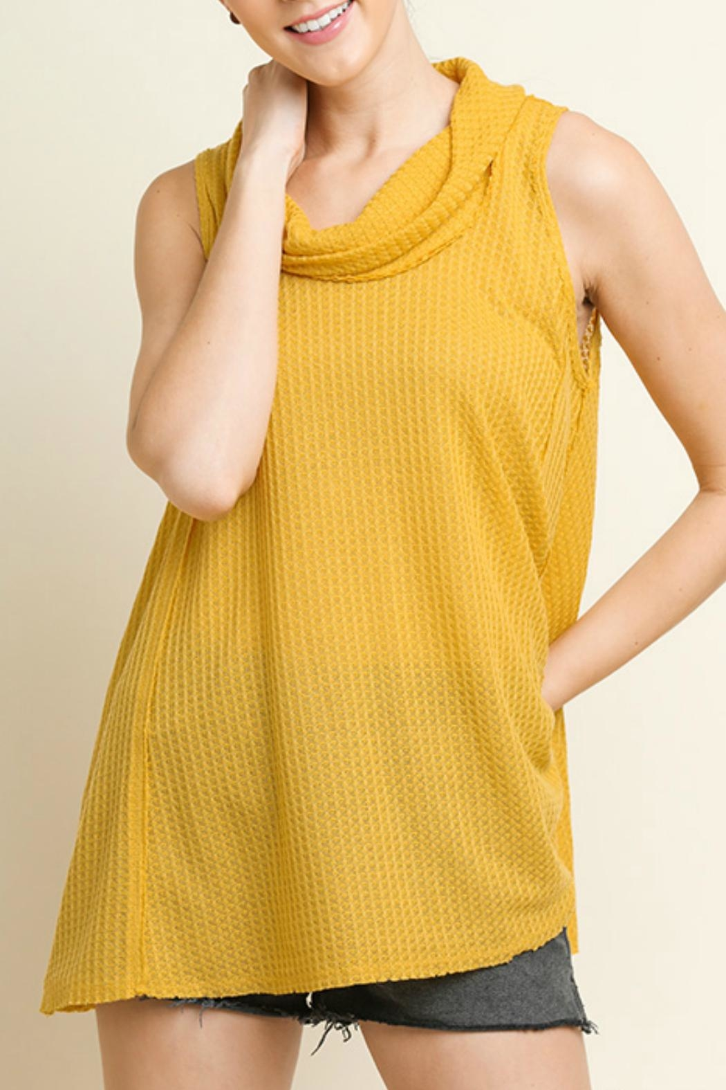 Umgee USA Cowl Neck Top - Front Cropped Image