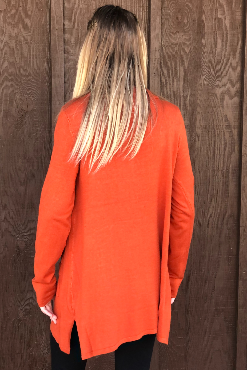 True Blue  Cowl Neck Tunic - Side Cropped Image
