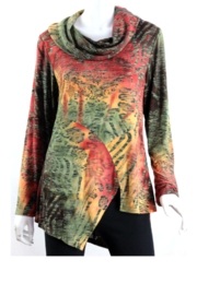 Vintage Concept  Cowl Neck Tunic - Front cropped