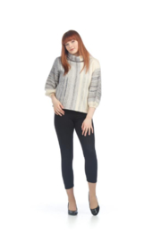Papillon Cowl Neck w/ Balloon Sleeves - Back cropped