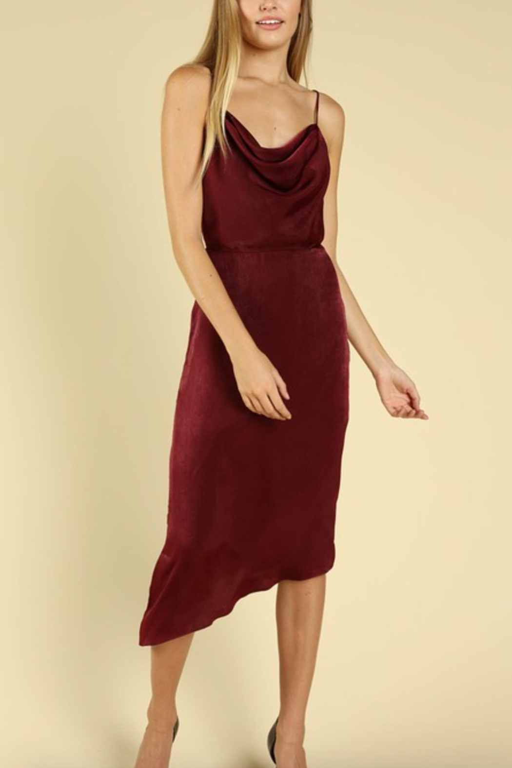 Honey Punch Cowl Slip Dress - Front Cropped Image