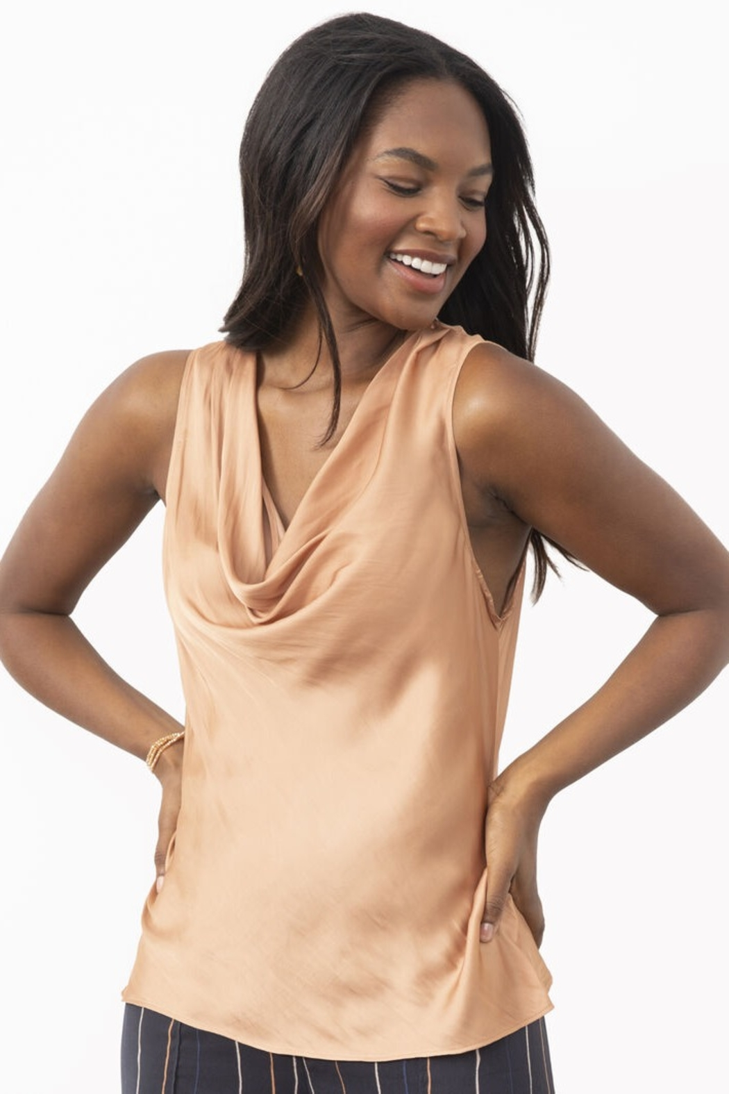 Nic + Zoe Cowl Tank - Front Cropped Image