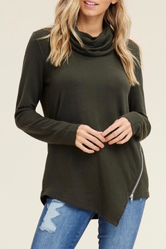 LuLu's Boutique Cowl Zipper Top - Product List Image