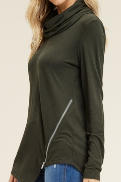 LuLu's Boutique Cowl Zipper Top - Alternate List Image