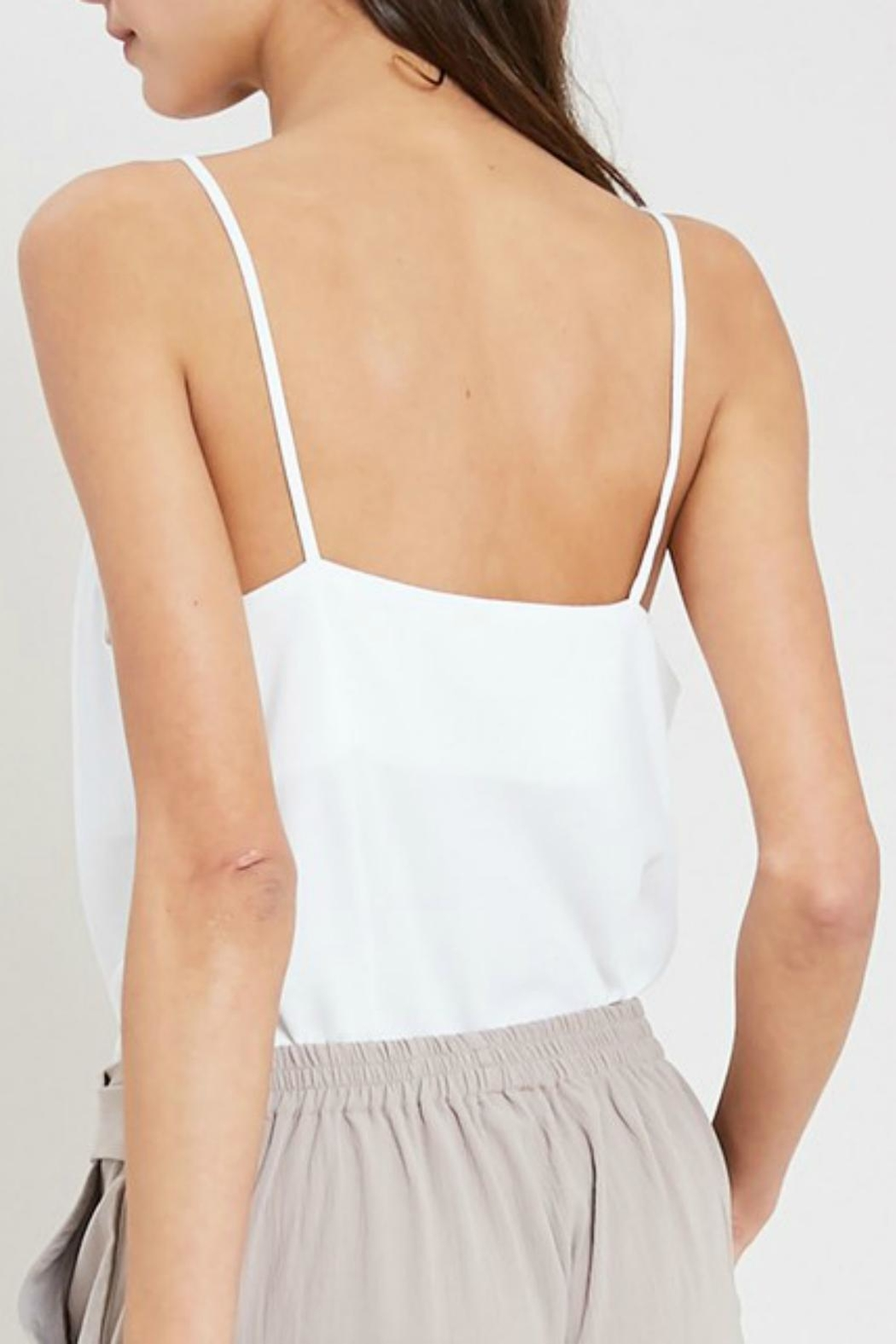 Pretty Little Things Cowlneck Tank Top - Front Full Image