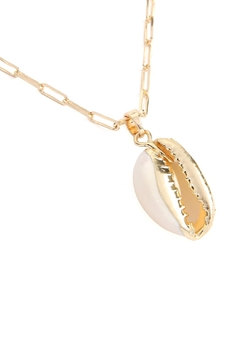 Riah Fashion Cowrie-Shell Link-Chain-Necklace - Alternate List Image