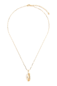 Riah Fashion Cowrie-Shell Link-Chain-Necklace - Product List Image