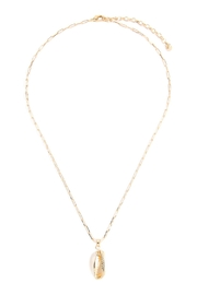 Riah Fashion Cowrie-Shell Link-Chain-Necklace - Product Mini Image