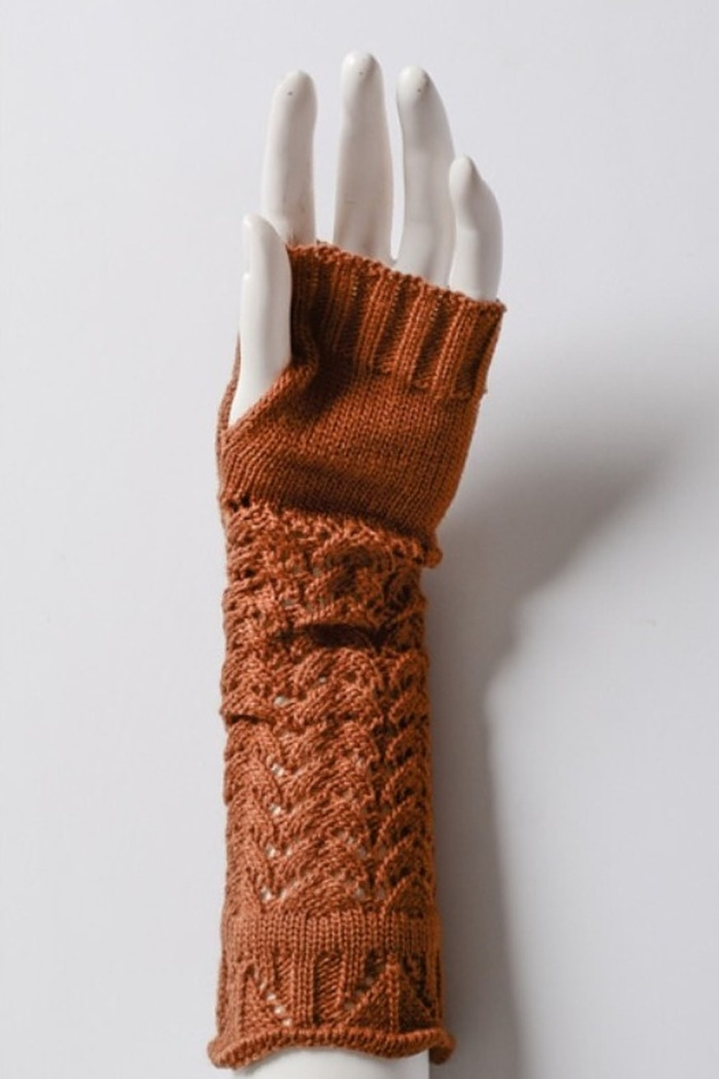 Leto cozy arm warmers - Front Cropped Image