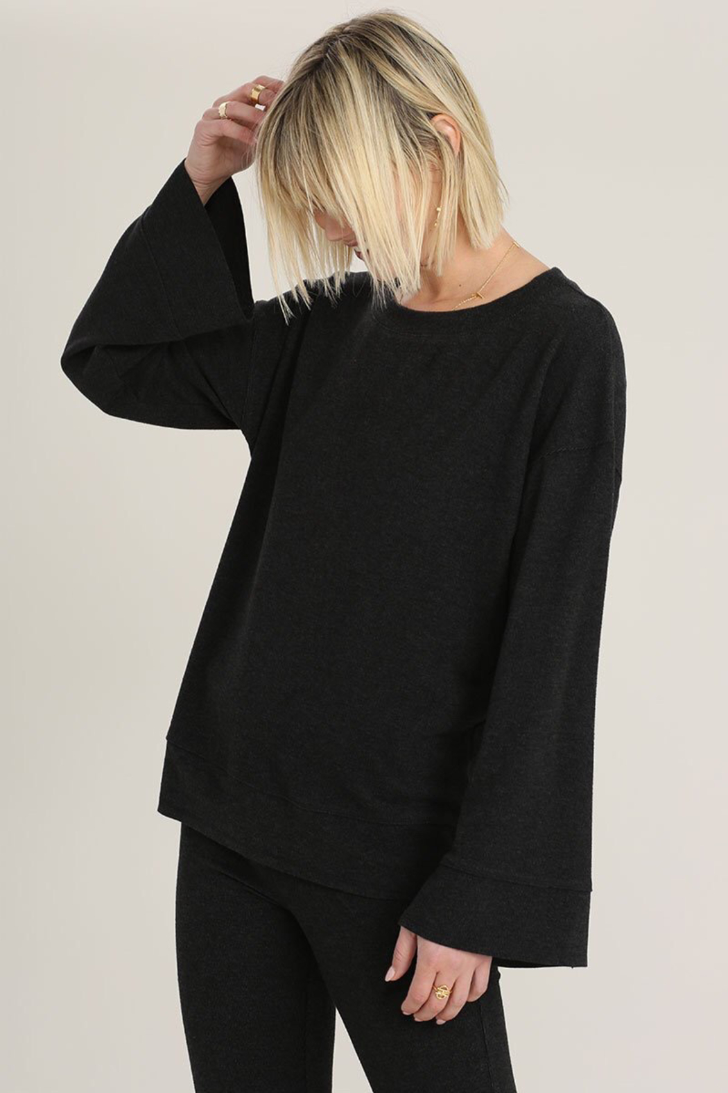 Hello Nite Cozy Brushed Top - Front Full Image
