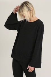 Hello Nite Cozy Brushed Top - Front full body