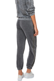 Astars Cozy burn out french terry joggers with gunmetal studs on the side seams - Front full body