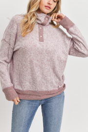 Lyn-Maree's  Cozy Button Detail Sweater - Product Mini Image