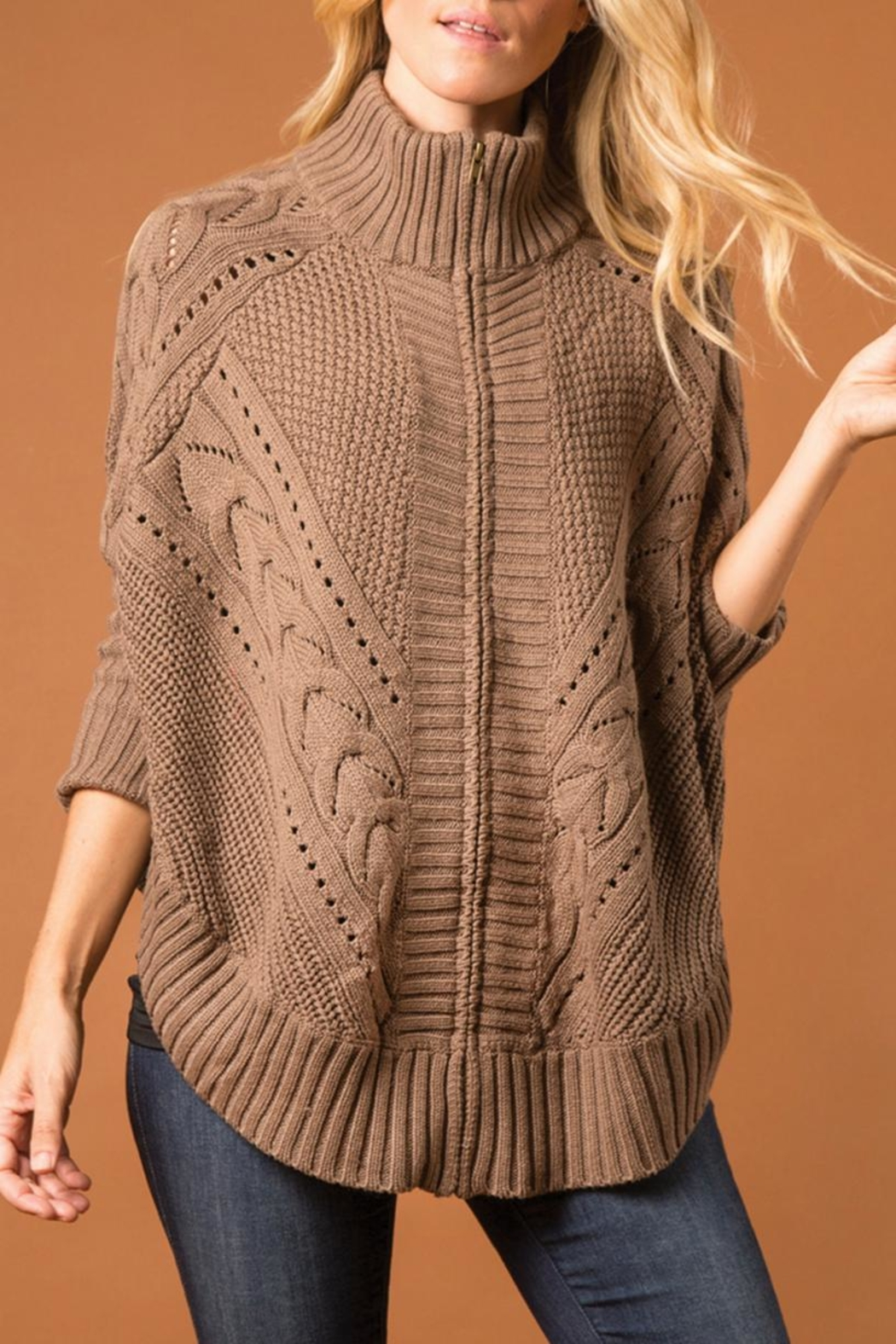 Simply Noelle Cozy Cabin Zip-Jacket - Front Cropped Image