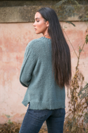 Wooden Ships Cozy Cableknit Crew - Side cropped