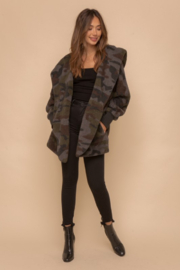 Hem & Thread Cozy Camo Faux Fur Open Jacket - Other