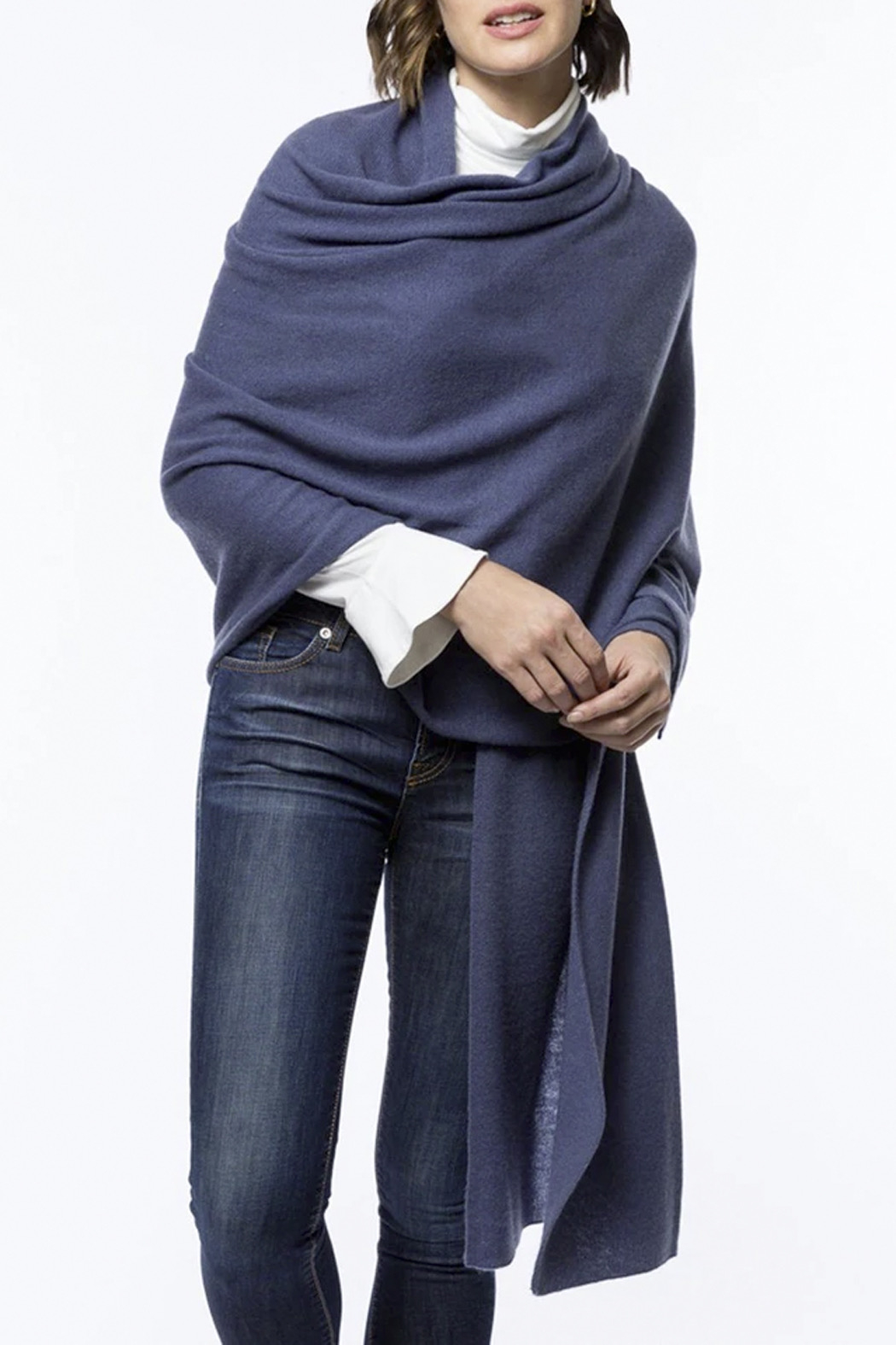 Tyler Boe Cozy Cashmere Wander Wrap - Front Full Image