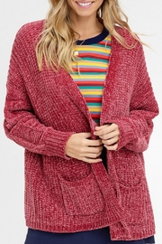 Listicle Cozy Chenille Cardigan - Product Mini Image