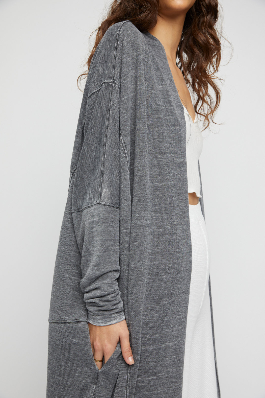 Free People  Cozy Cool Girl Cardigan - Back Cropped Image