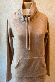 Tribal  Cozy cowl neck sweater with drawstring, 2 front pockets - Product Mini Image