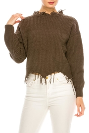 dress forum Cozy Distressed Sweater - Front full body