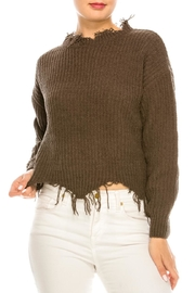 dress forum Cozy Distressed Sweater - Front cropped