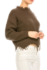 dress forum Cozy Distressed Sweater - Side cropped