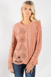 Elan Cozy Distressed Sweater - Product Mini Image