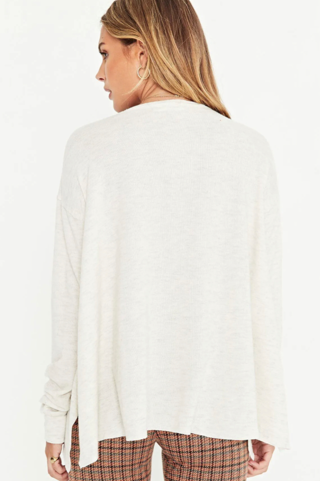 Project Social T Cozy First Long Sleeve CREW - Back Cropped Image