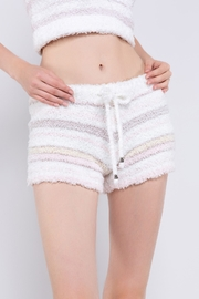 POL Cozy Fleece Striped Shorts - Product Mini Image