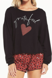 z supply Cozy Grateful Sweatshirt - Front cropped