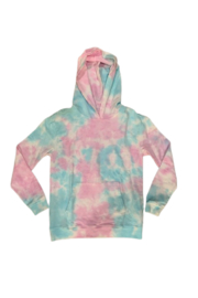 T2 Love Cozy Hooded Pullover - Tye Dye - Product Mini Image