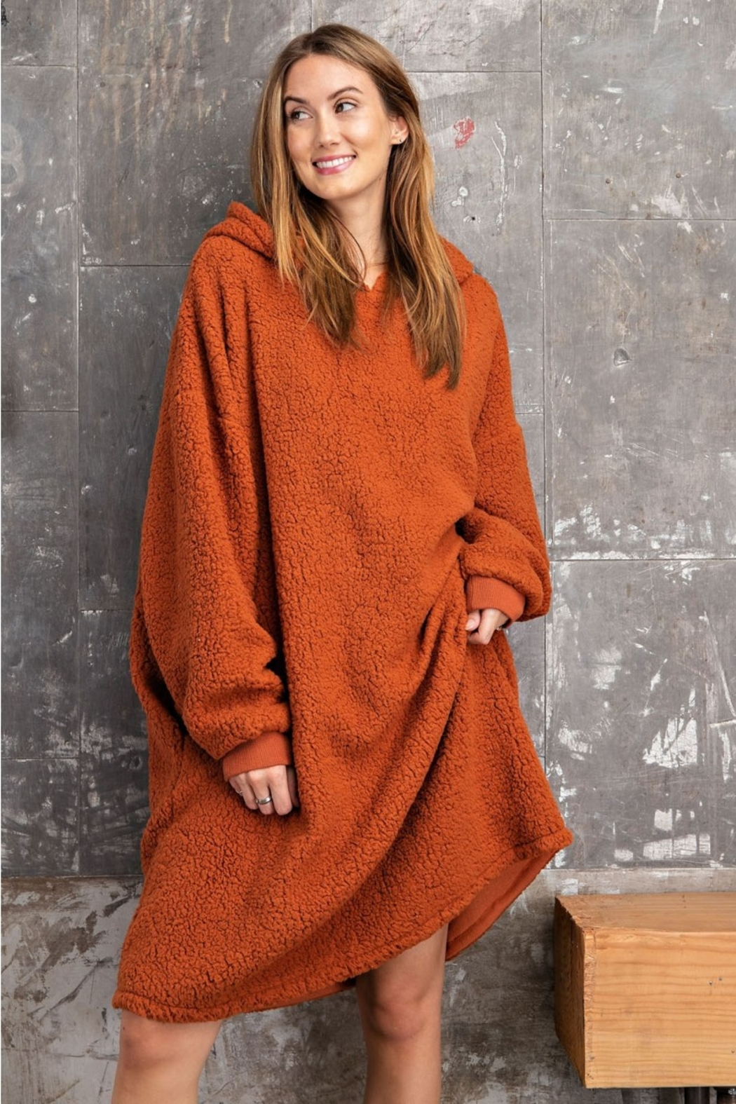 Easel  Cozy Hoodie Loungewear - Front Cropped Image