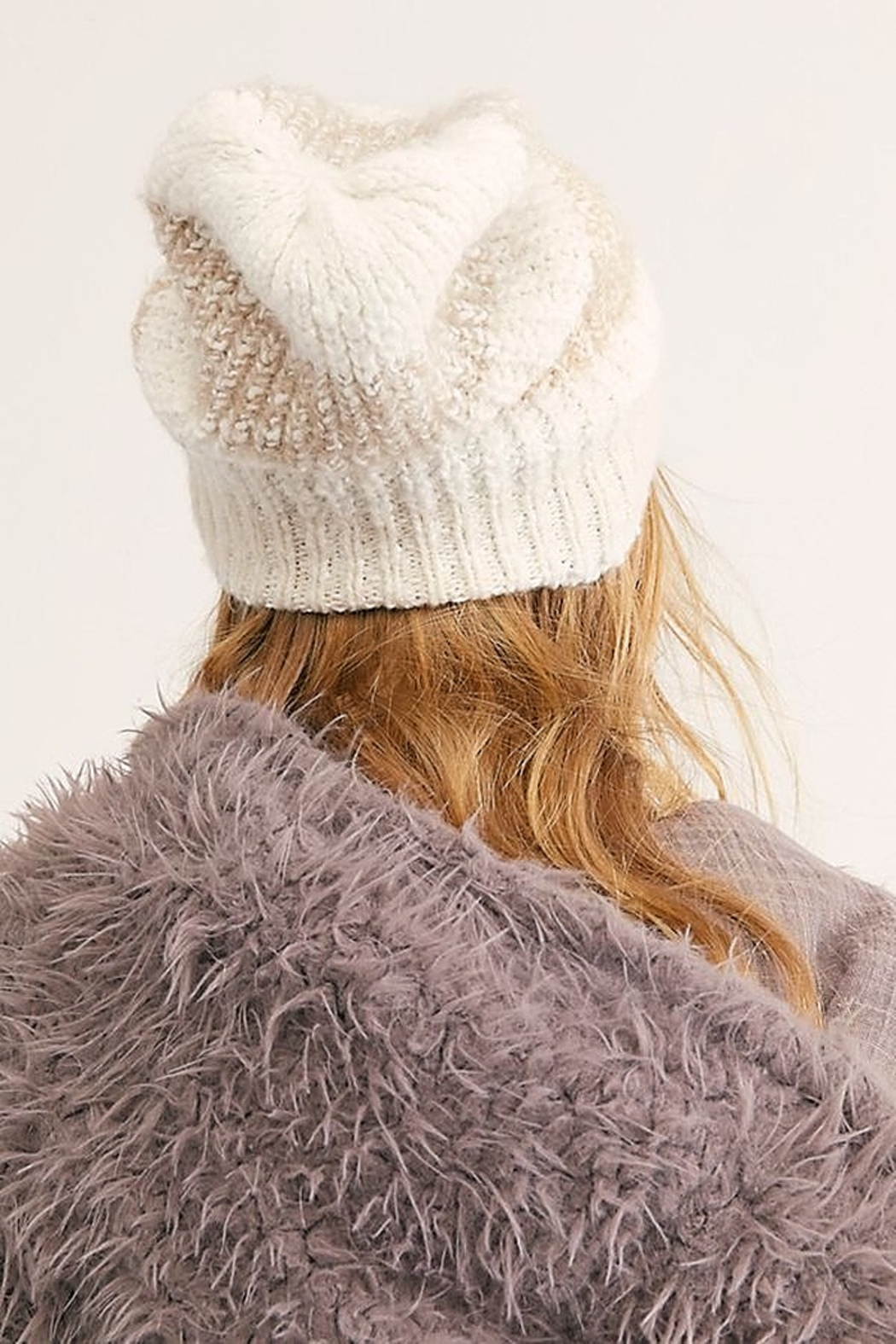 Free People Cozy In Stripes Beanie In Ivory - Main Image