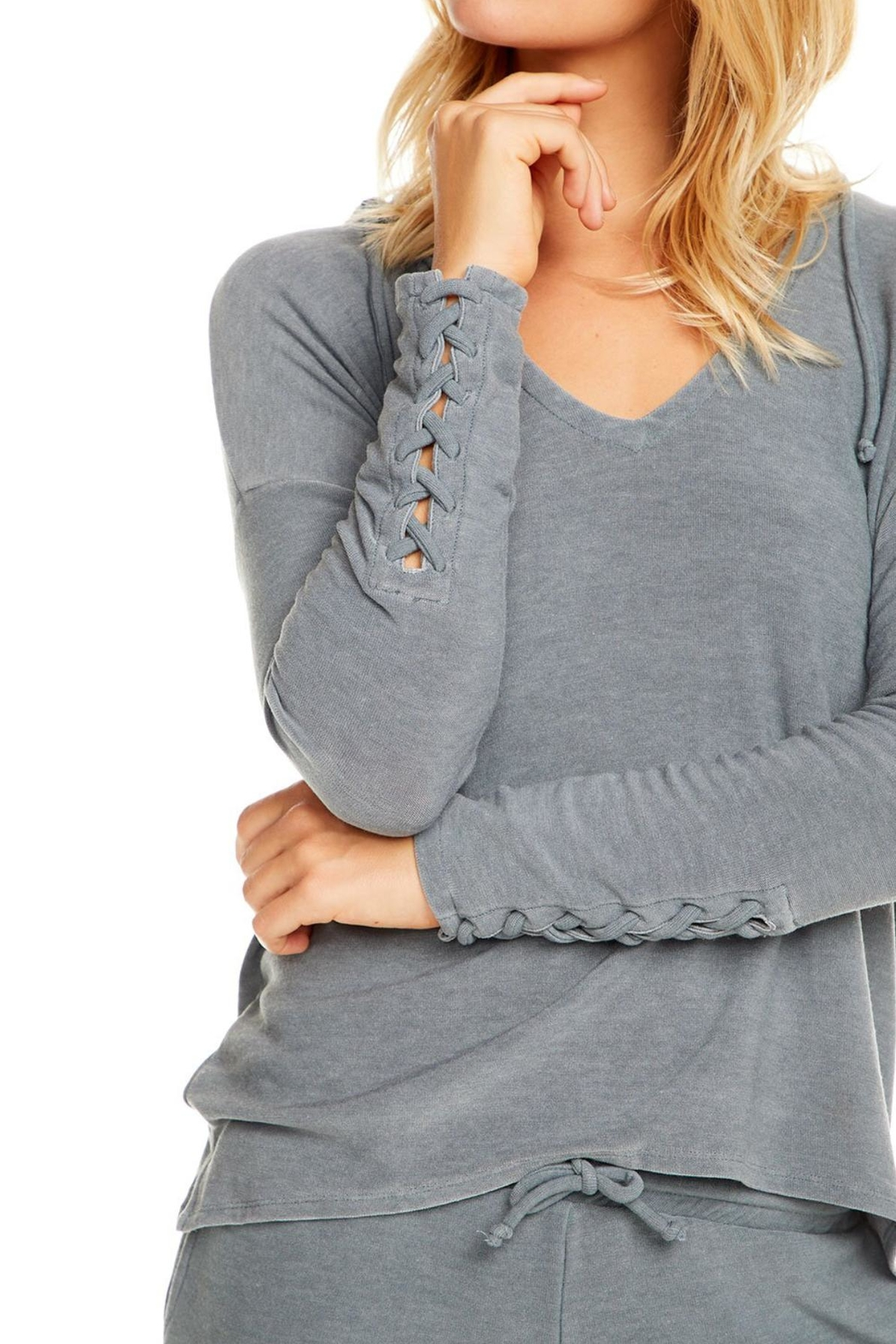 Chaser Cozy Knit Hoodie - Front Full Image