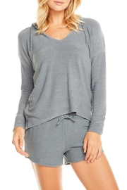 Chaser Cozy Knit Hoodie - Front cropped
