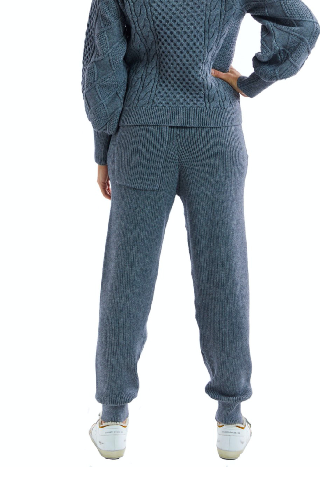 Allison Collection Cozy Knit Pants - Front Full Image